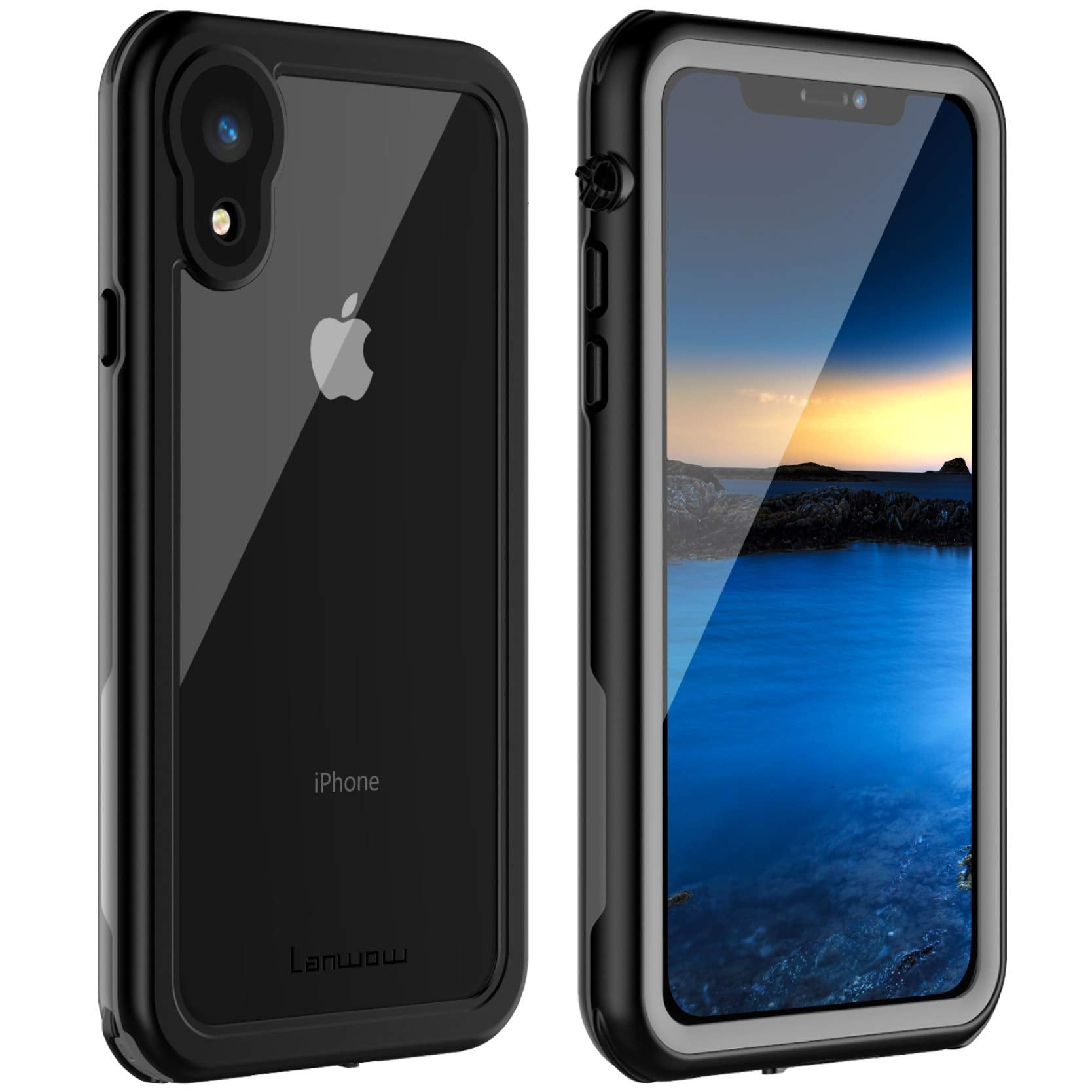watch 1806a db2ca iPhone XR Waterproof Case, Lanwow Waterproof iPhone XR Shockproof Full-Body  Rugged Cover Case wit...