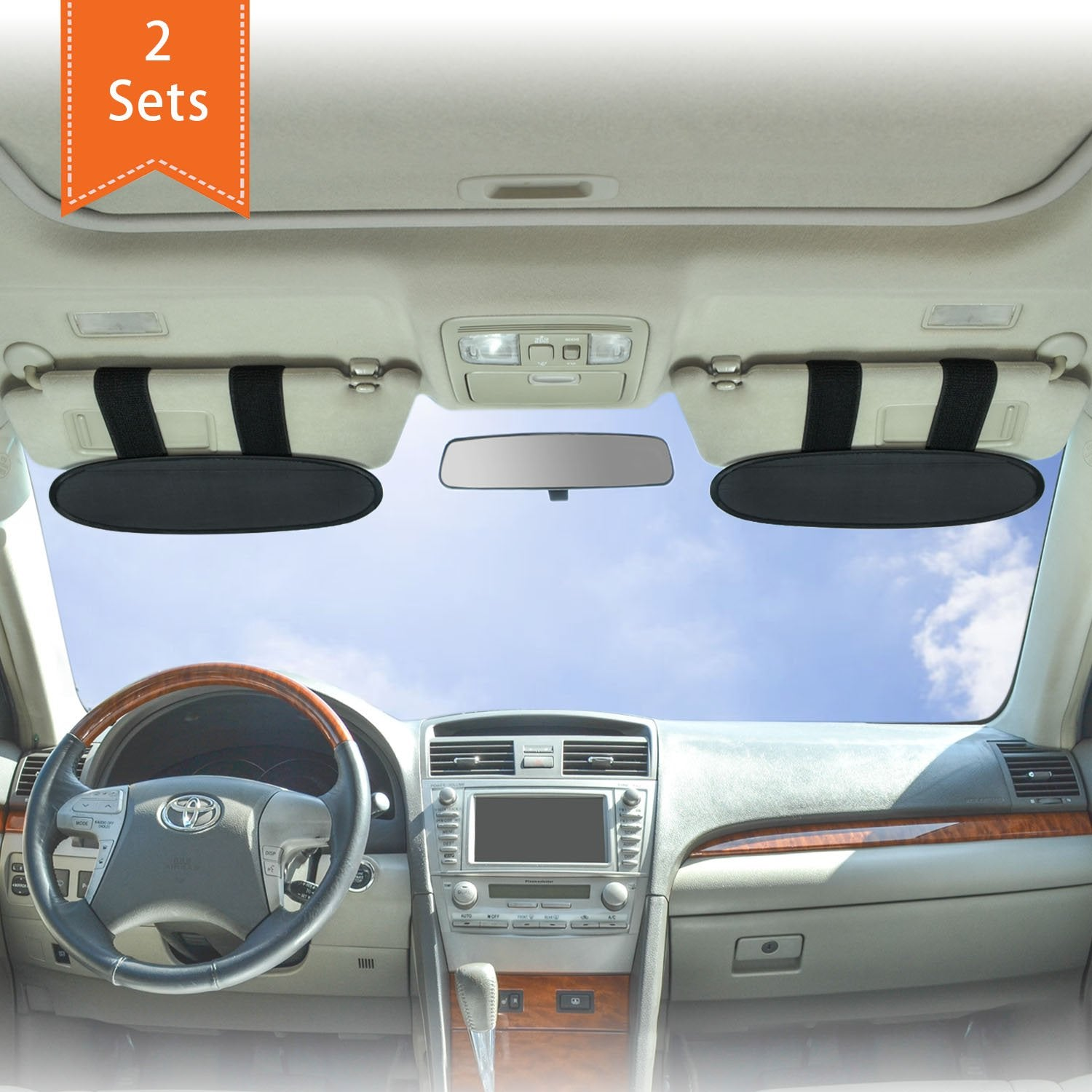 Sun Blocker For Car >> Wanpool Anti Glare Anti Dazzle Vehicle Visor Sunshade Extender Sun Blocker For Cars Vans And