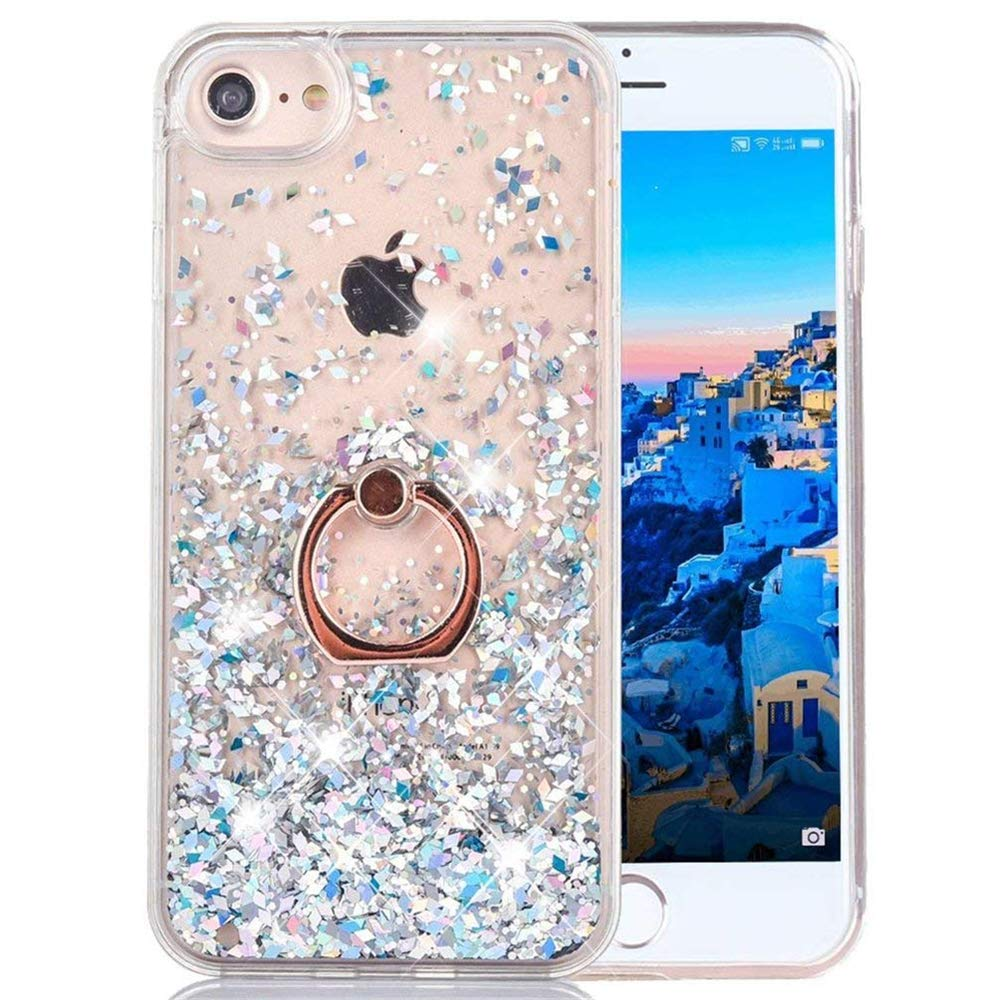 online retailer 3d1b1 1ccea COTDINFOR iPhone 5S Liquid Case Glitter Sparkle Floating Luxury Bling  Quicksand Shockproof Flowin...