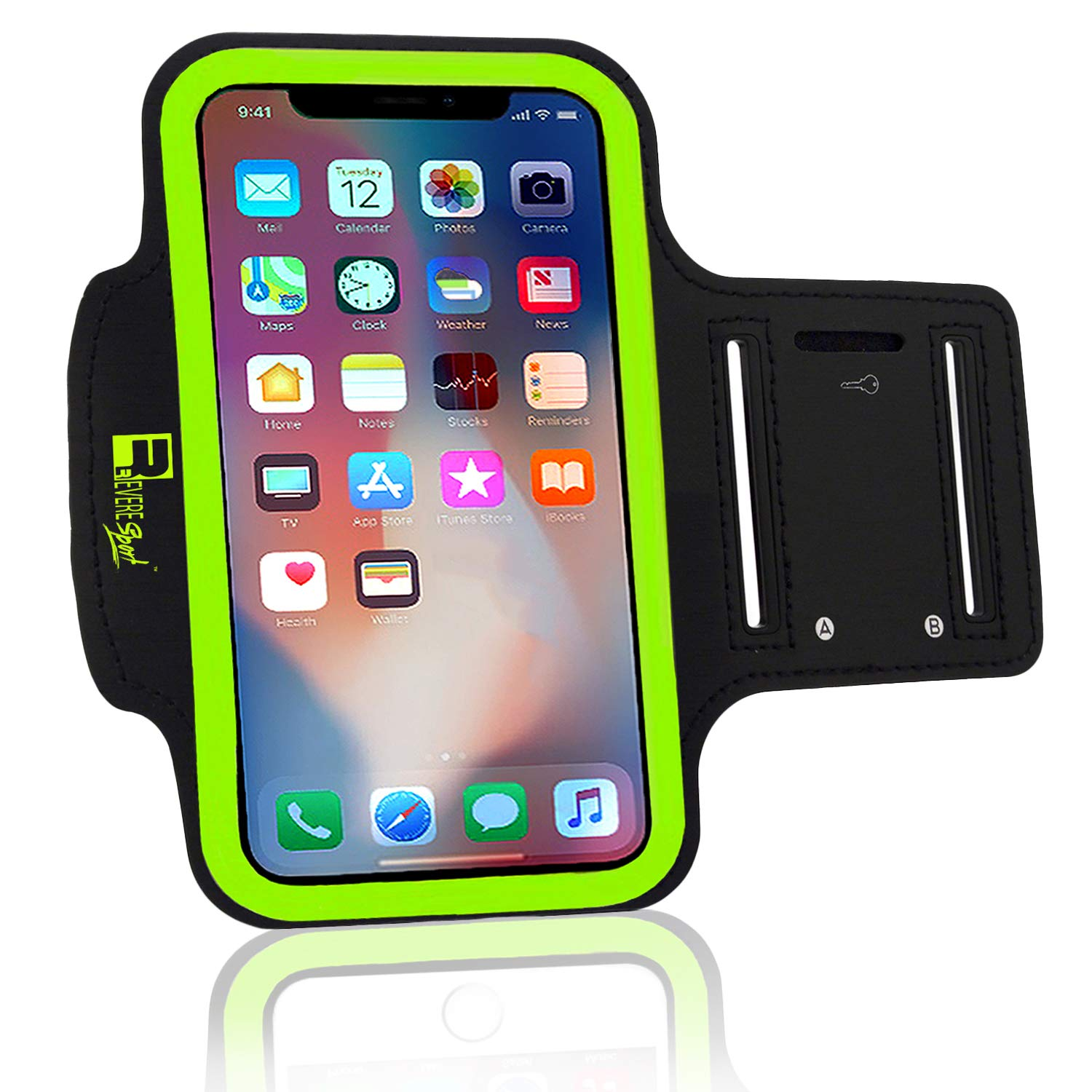 super popular e39d8 14657 iPhone X/XS Running Armband. Arm Phone Holder Case for Runners, Sports, Gym  Workouts & Outdoor Ex...