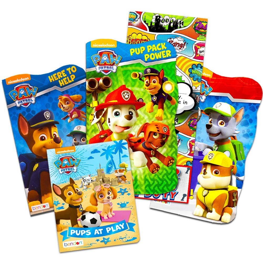 Nick Jr PAW Patrol Board Book Set -- 4 Shaped Board Books for Toddlers Kids  with Door Hanger (Sup...