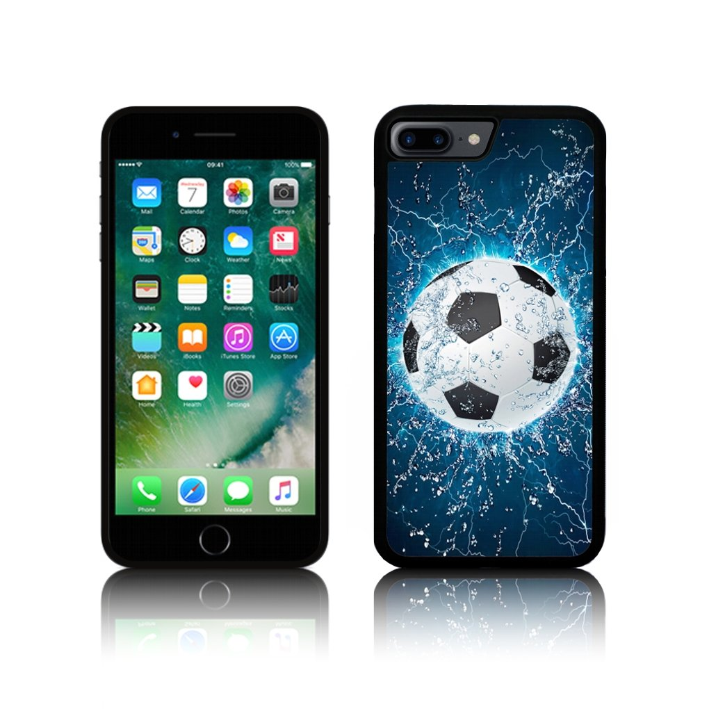 new arrival 7b1fc b50b4 TPU Silicone Blue Soccer Football Case for Apple IPHONE Silicone (iPhone  5/5S, Black)