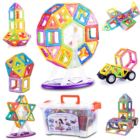 LIRS TOYS Magnetic Building Blocks Toy 72 pcs Set of Fun Creative Educational