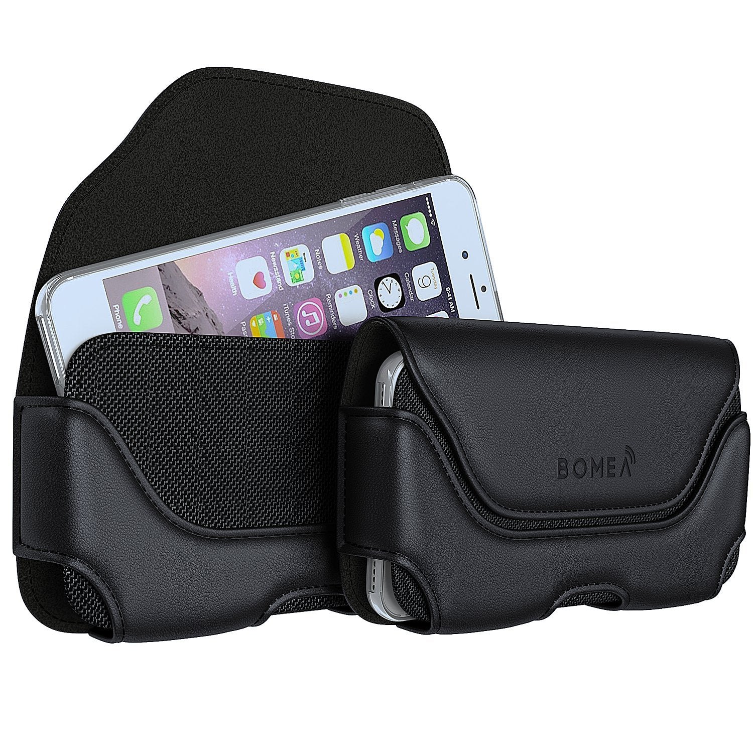 best service a7764 fc71b BOMEA iPhone 6s 7 8 Holster, Leather Belt Clip Case Holster Pouch Holder  Cover for Apple iPhone 6...