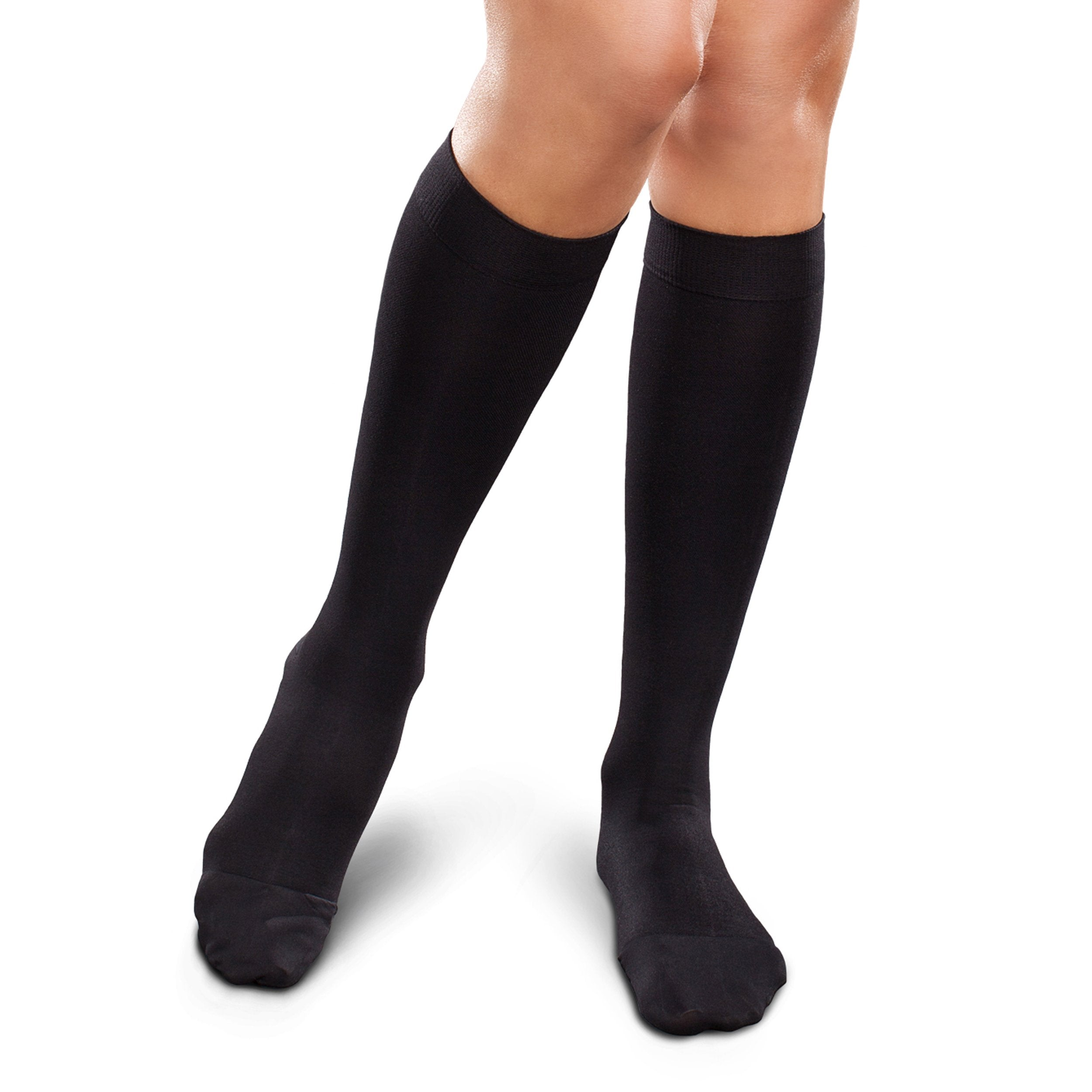 f92a349a431f8 Therafirm Opaque Women's Knee High Support Stockings - Mild (15-20mmHg) Graduated  Compression.