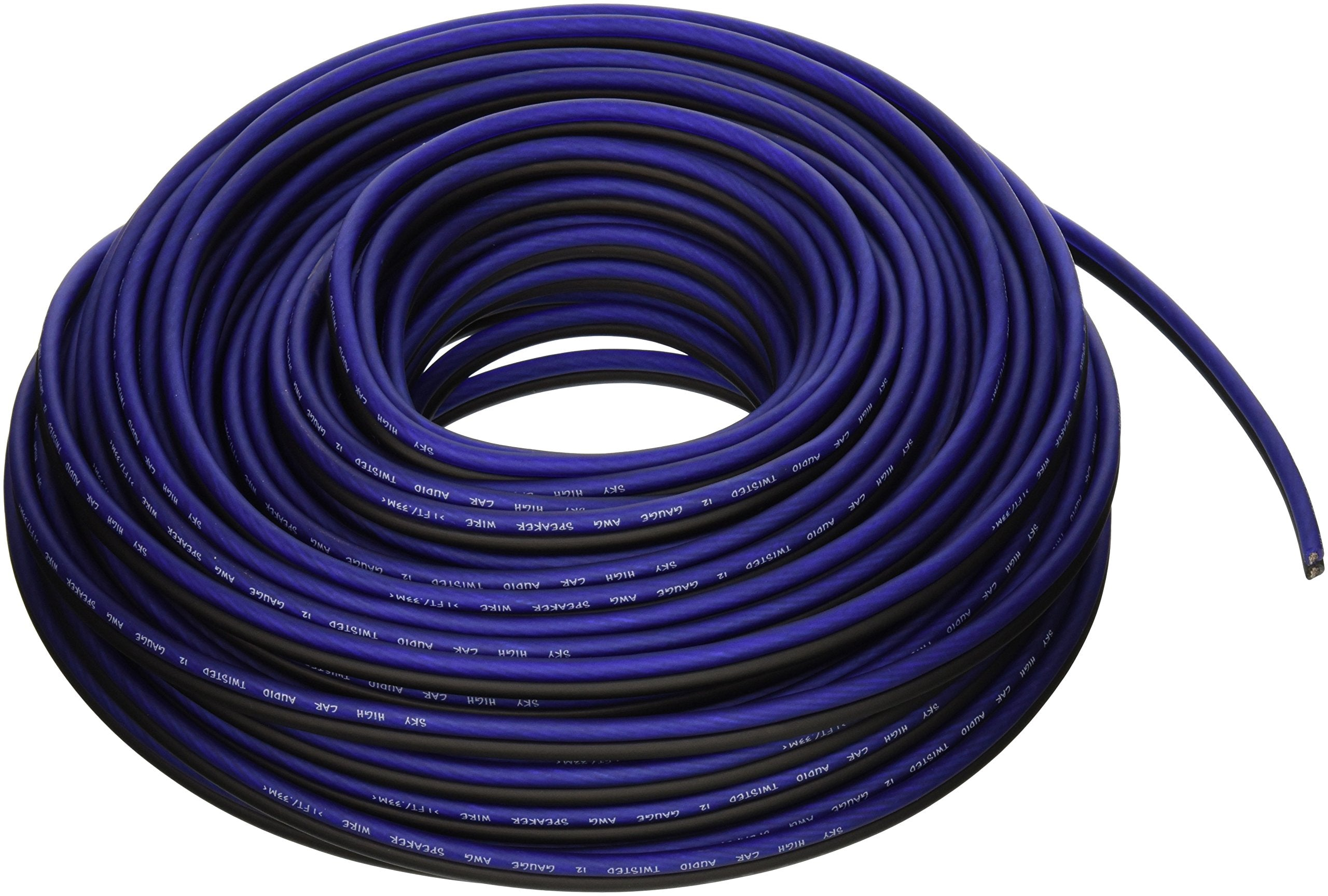 100 ' feet TRUE 12 Gauge AWG Speaker Wire Car Home Audio Sky High Car How Many Feet Of Wiring Is In A Car on