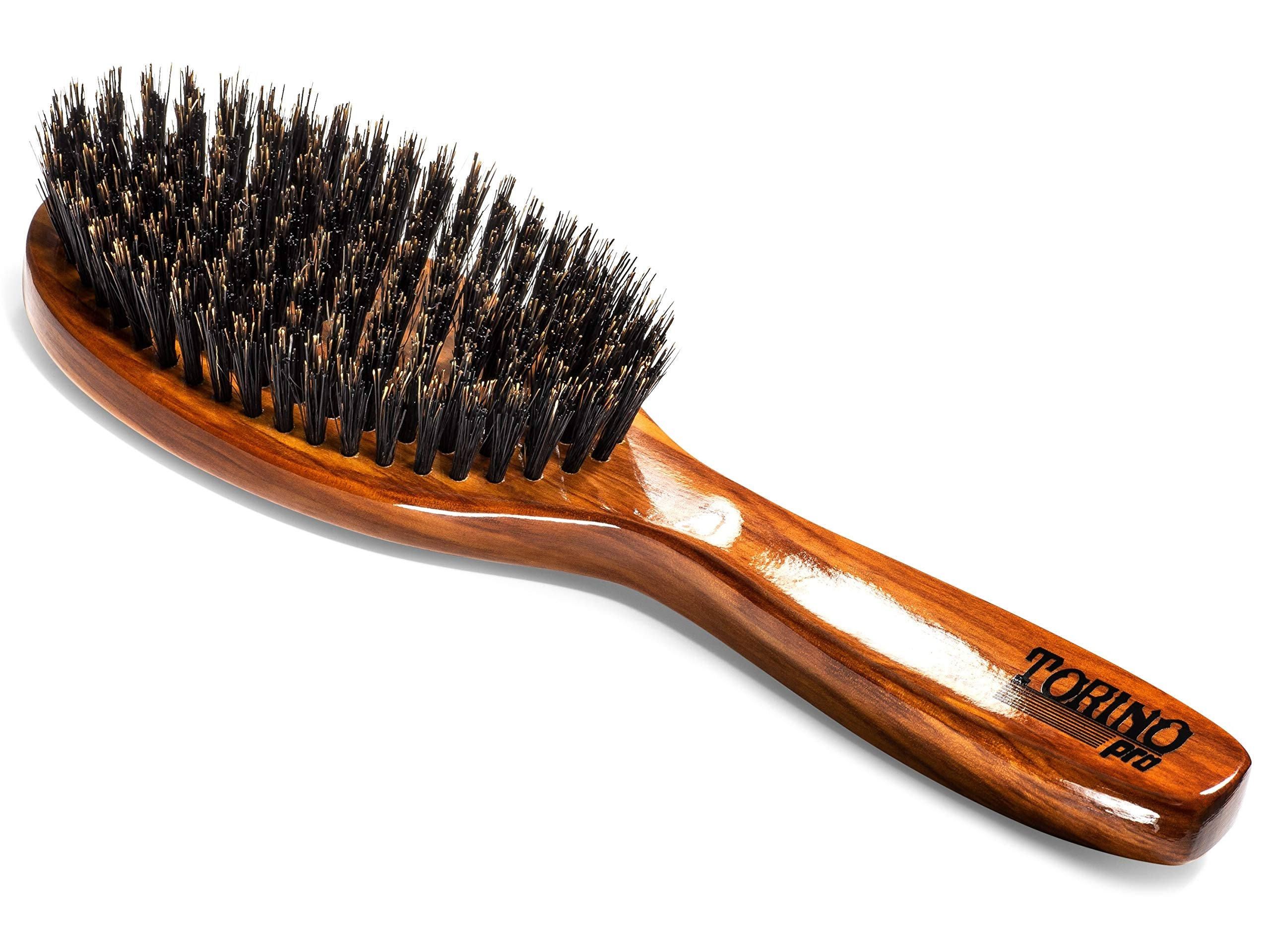 Torino Pro Wave Brush #1170 - By Brush King - Medium Oval Palm/Military  with