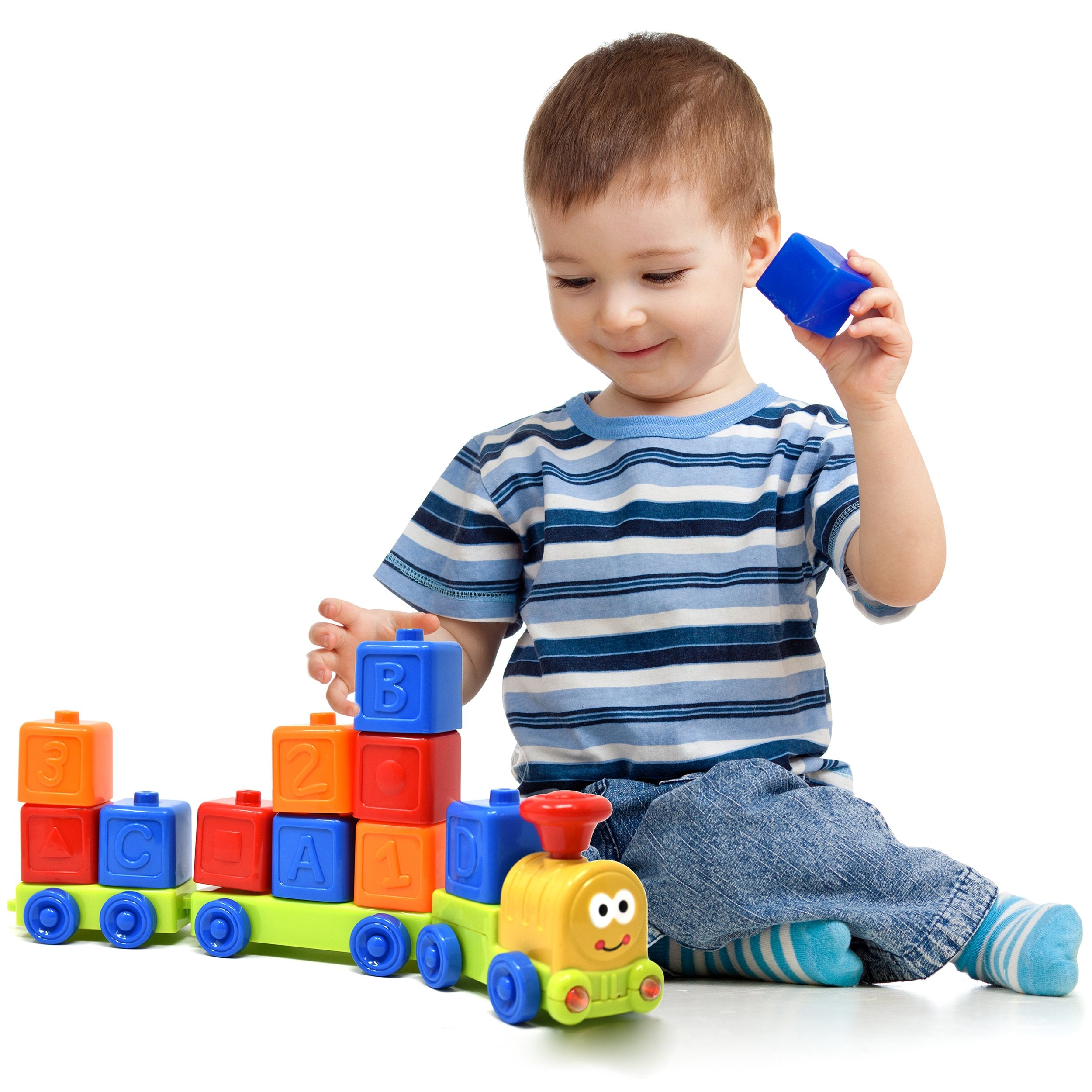 My First Train Set Sound and Light Musical ABC, Number and Stack and Sort  Train for Baby, Toddl