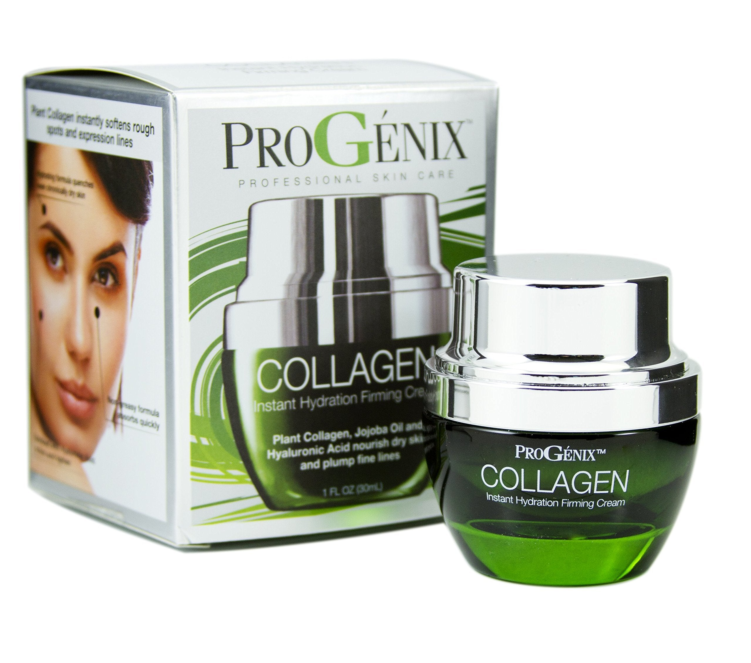 03c50773f5bf Progenix Collagen Instant Hydration Firming and Plumping Face Cream with  Hyaluronic Acid and Jojo...