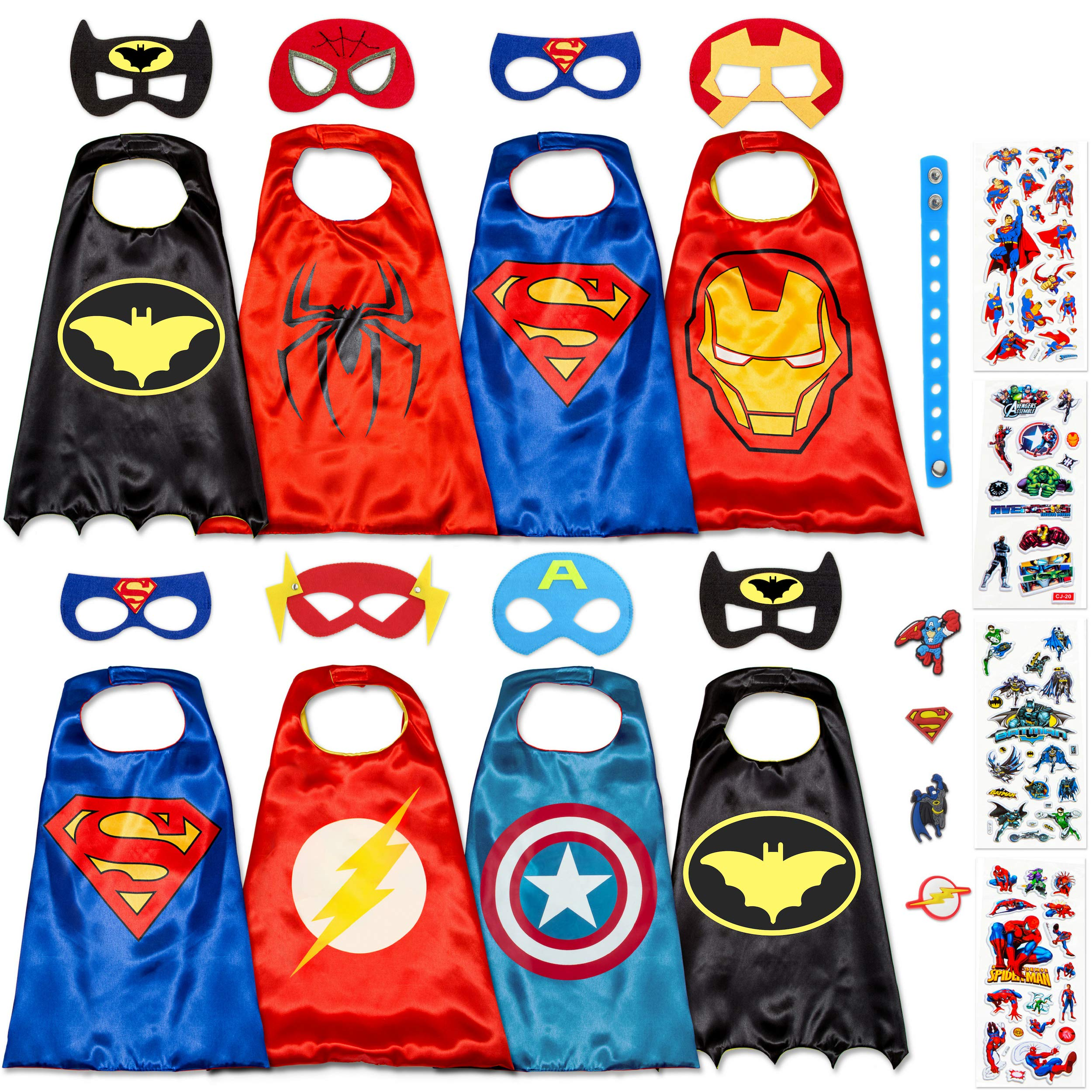 978be2e29349 Superhero Capes for Kids Set - Super Hero Toys & Costumes Birthday Party  Supplies (8 Pack Boys)