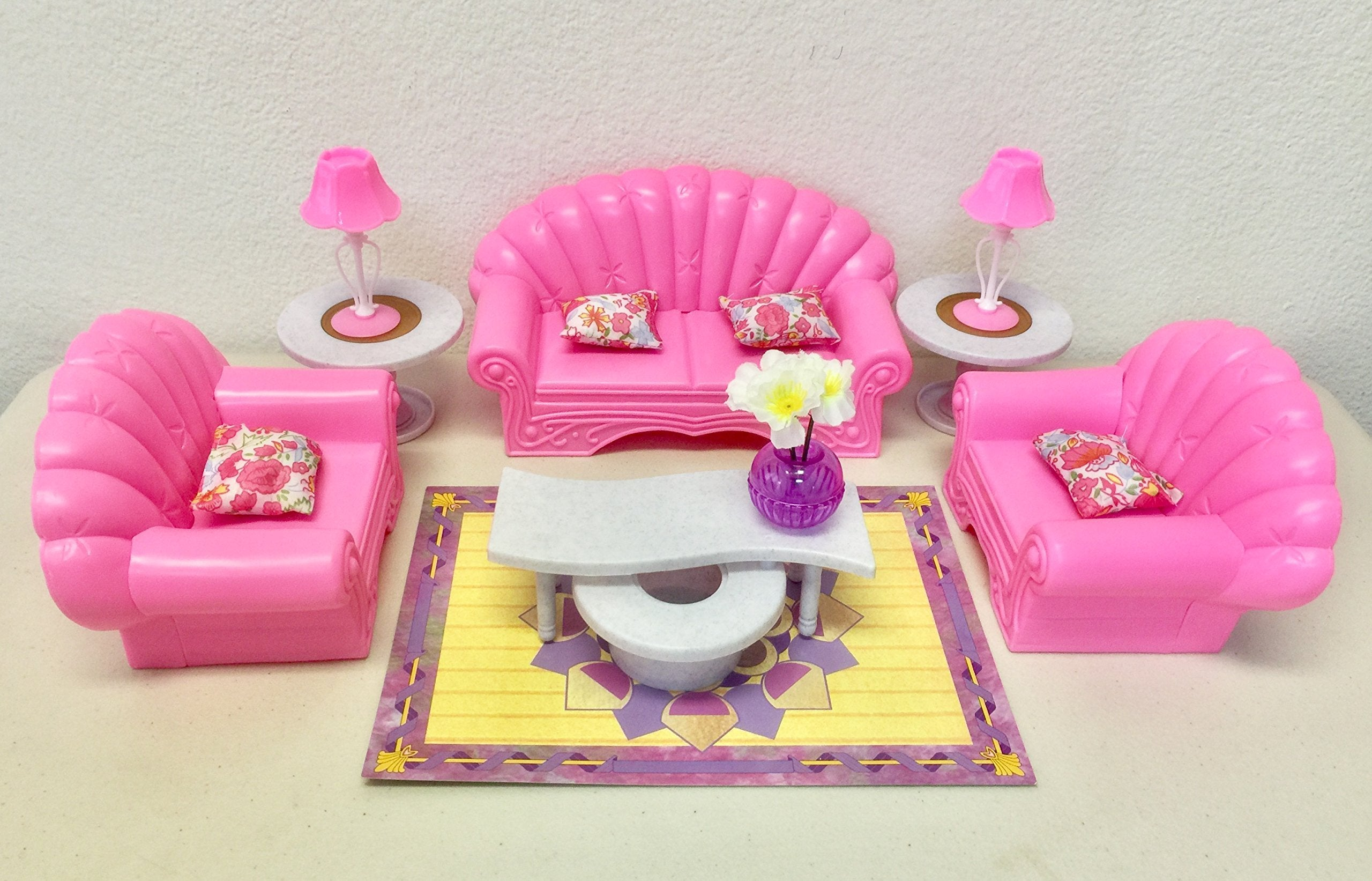 Dolls Gloria Barbie Size Dollhouse Furniture Living Room Set For Sale In Outside South