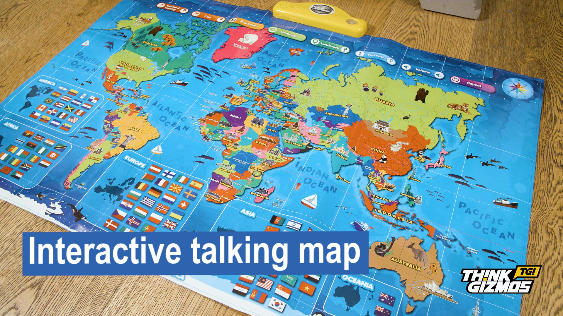 Other Educational Toys - Interactive Talking World Map for
