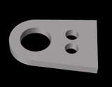 Chassis Panel Tab (D-Lug) For M5 Riv Nut (7mm Hole). 2mm Thick - UPACLICK