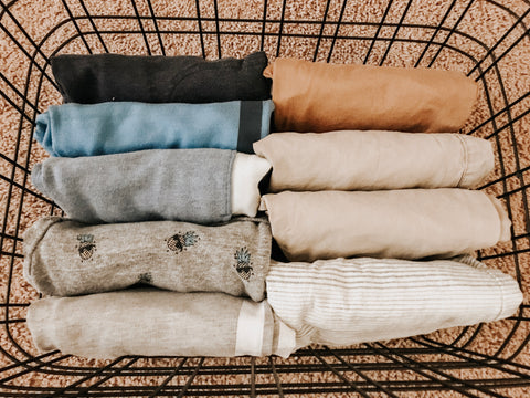 Minimalist folded clothes