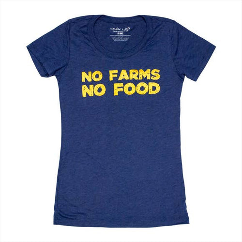 No Farms No Food Ladies Tee