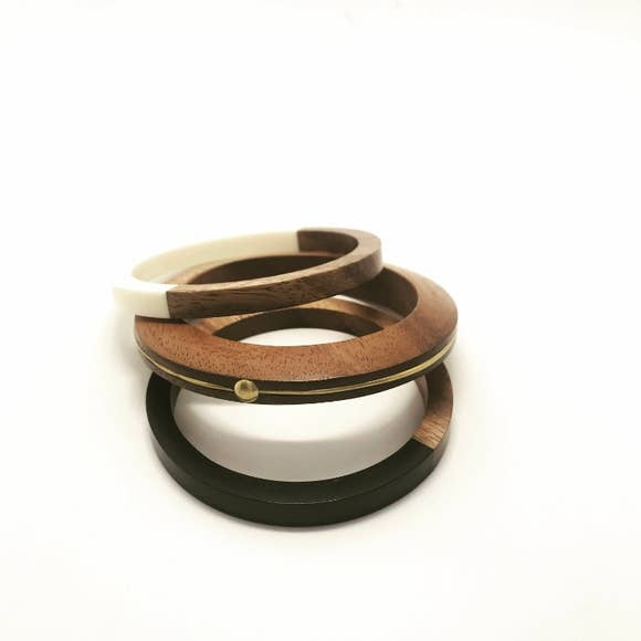 Balsa Wood Bangle Set