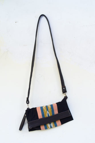 Fold-Over Clutch | Black, Blush, & Blue