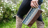 Mayu River Collection | Peruvian Sheep's Wool & Leather Clutch