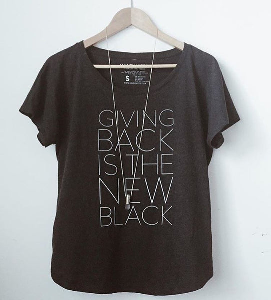 Giving Back is the New Black | Tee