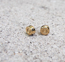 Ali Bullet Top Stud | Gold Earrings