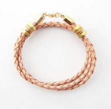 The Honeycomb | Natural Leather Bracelet