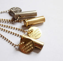 Fighting Hunger Bullet | Gold Necklace