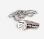 Fighting Hunger Bullet | Silver Necklace