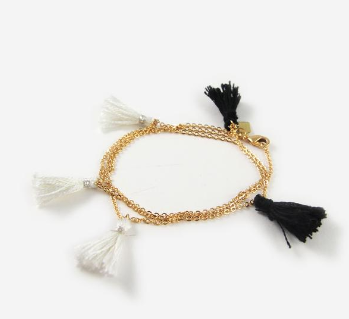 The Oliver Wrap | Black/White Bracelet