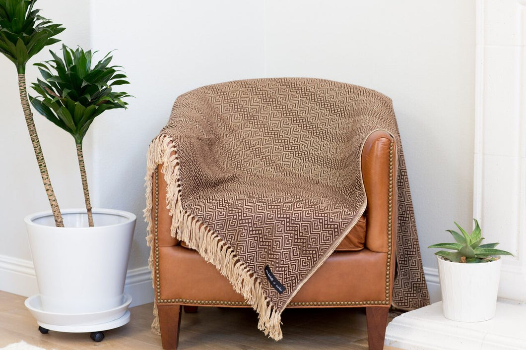 Royale Alpaca | Brown Blanket