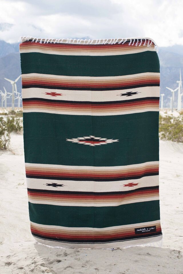 Southwest | Dark Green Blanket