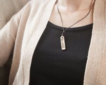 Be Still Clay & Leather Necklace