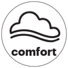 comfort fit icon