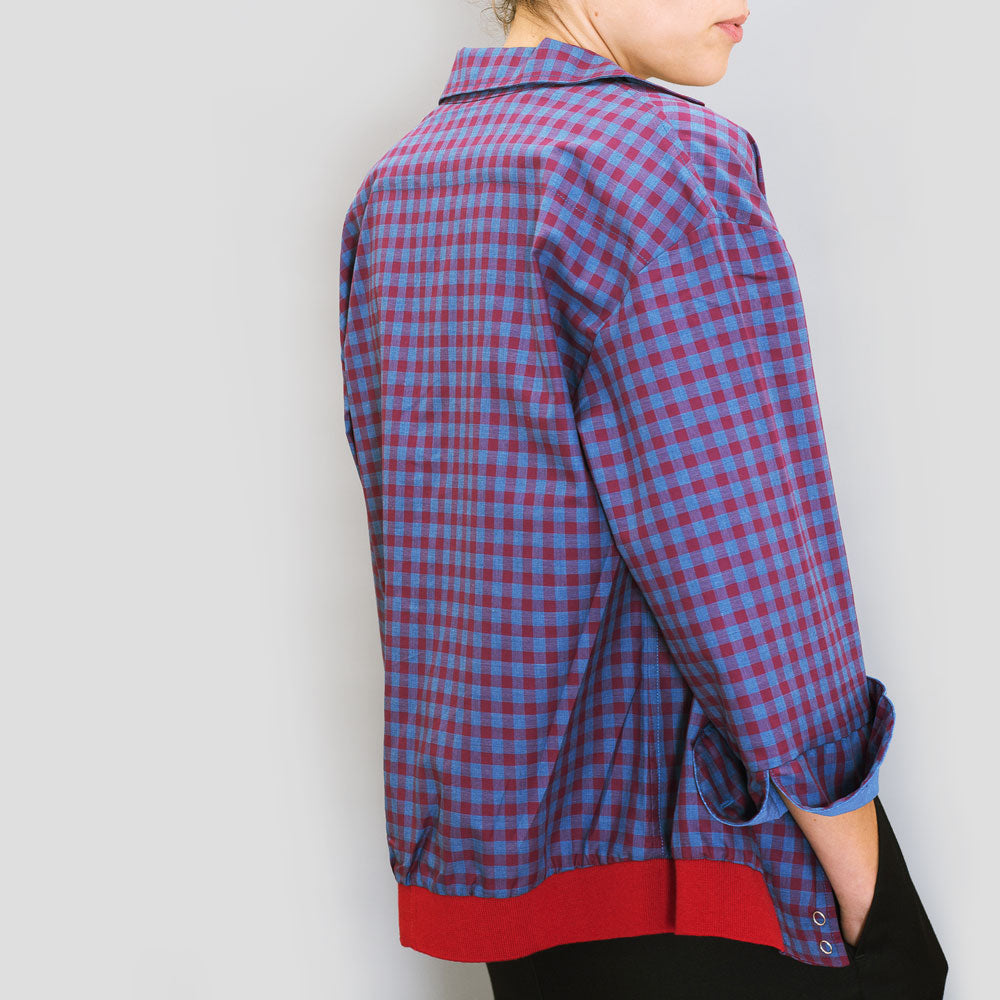 Burgundy Bomber Shirt