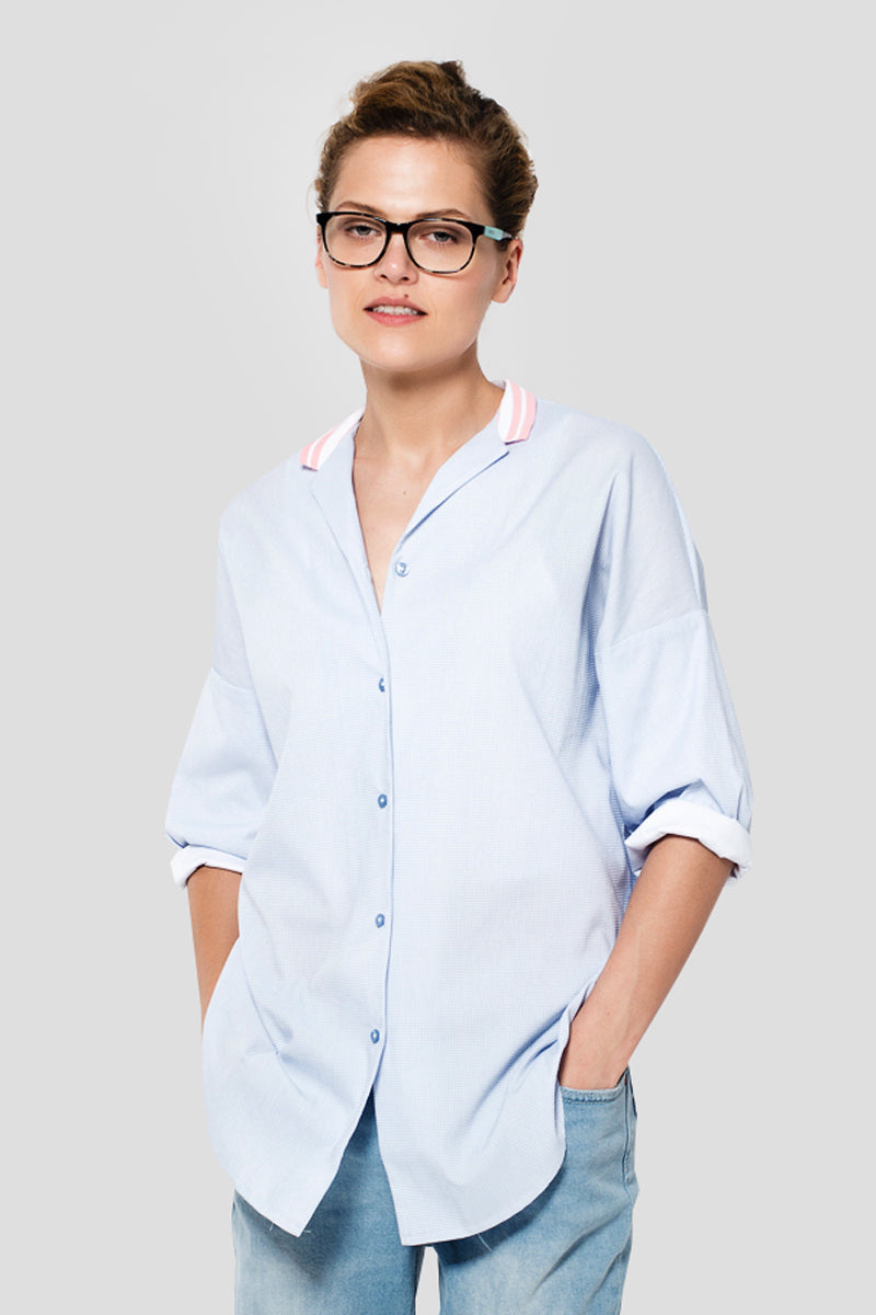 Blue Boyfriend Shirt