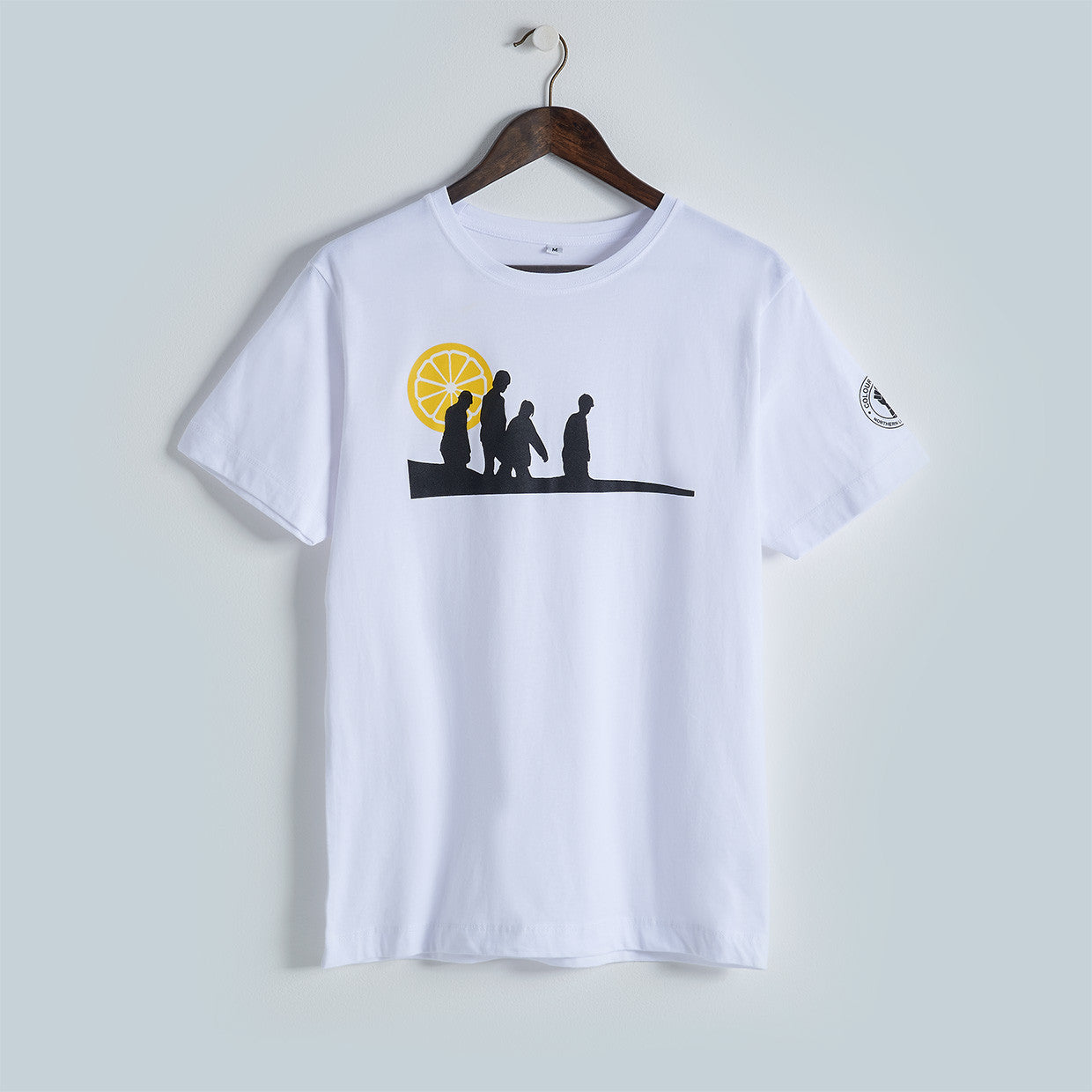 Stone Roses inspired music T-shirt silk-screen printed by hand onto 100% cotton top quality ethical T-shirts.