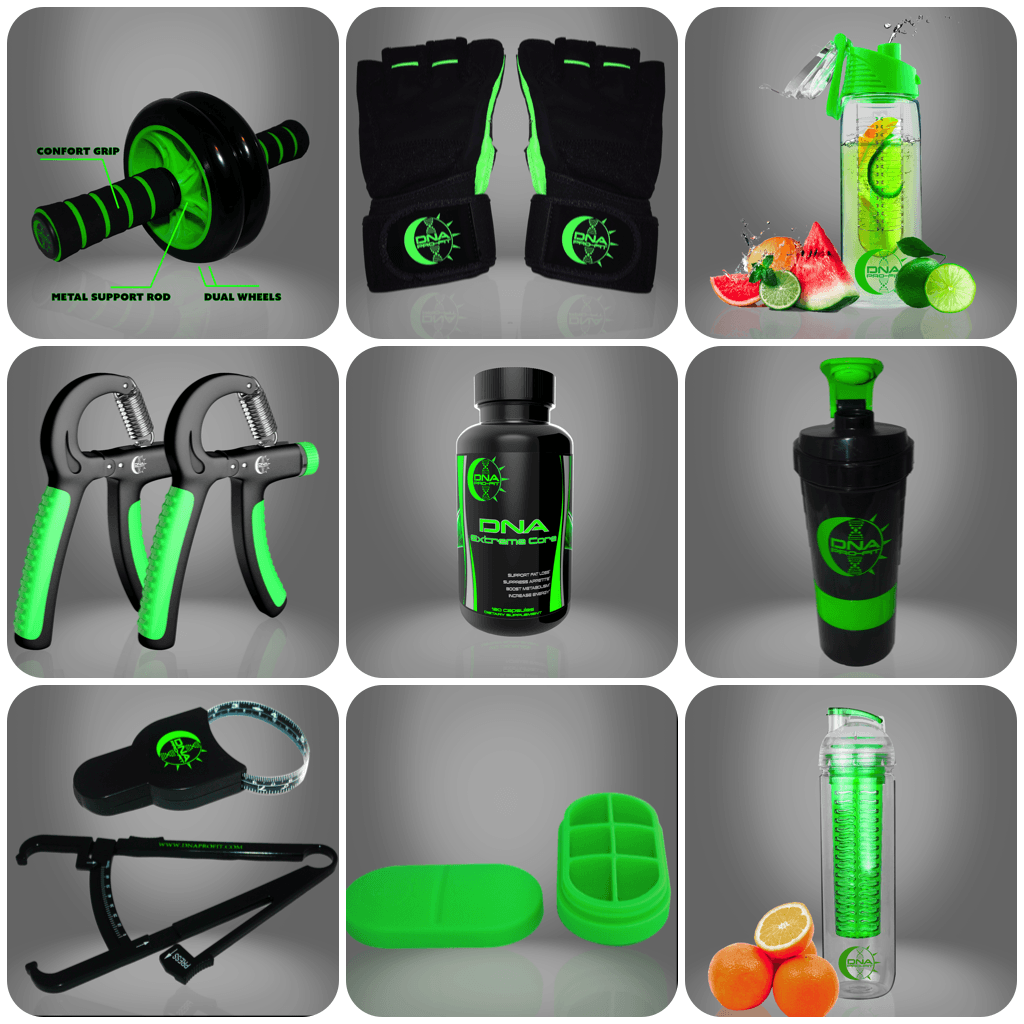 Fitness Combo Essentials Pack - by DNA PRO-FIT