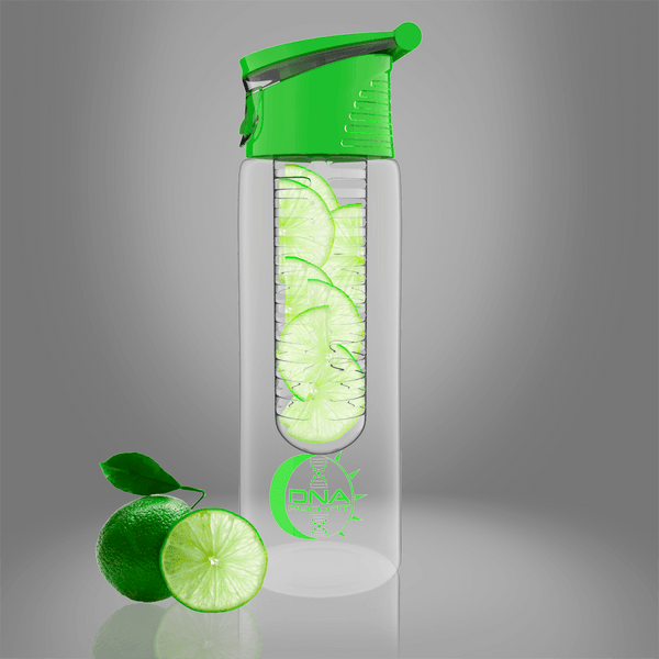 Fruit Infuser Water Bottle 24oz. (Green) - by DNA PRO-FIT