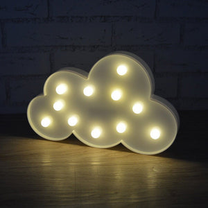 11 Leds LED Cloud Night Light Battery Powered 3D Shape Table Beside Lamp Baby Children-Beautify Sweden