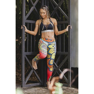 2017 New Women Sportswear Floral Strench Skinny Sports Leggings Gym Yoga Running Training-Beautify Sweden