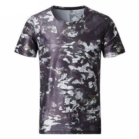 2017 News Men T Shirt Summer Fashion O-Neck Short-Sleeved Slim Fit 3D T-Shirt Man Casual 5XL-Beautify Sweden