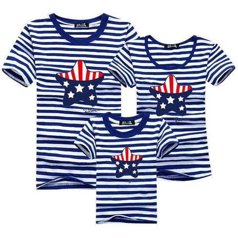 2017 Spring Summer Seasons Mother & Kids Cotton T-shirts Matching Outfits Mother Father and Daughter-Beautify Sweden