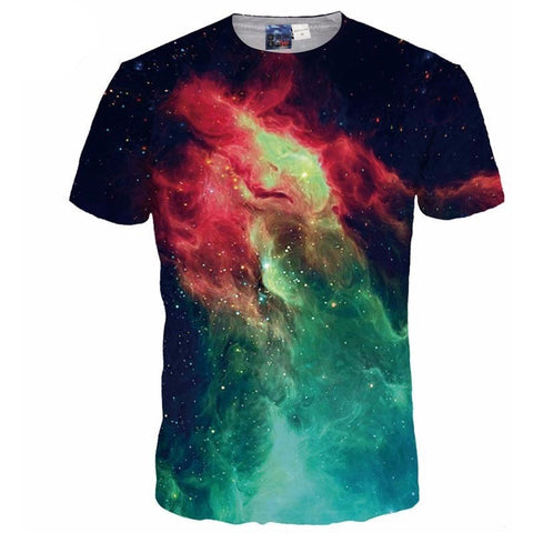 3d T-shirt Men / Women Summer Tops Tees Print Volcanic Space Galaxy T shirt Male Tshirts-Beautify Sweden