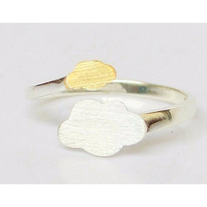 925 Sterling Silver Rings Open Gold Clouds Ring For Girl Women Gift Jewelry-Beautify Sweden