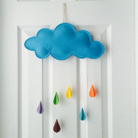 Adorable cloud with colorful raindrops underneath - Also available with moon and stars-Beautify Sweden