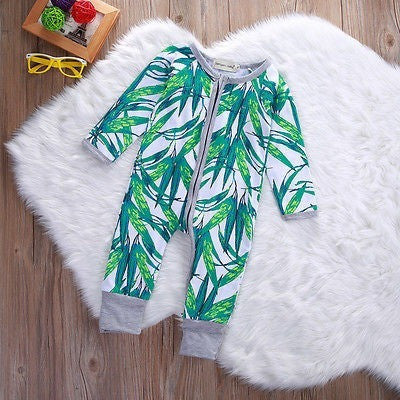 Baby Rompers Bamboo Printed Zipper Cotton Toddler-Beautify Sweden