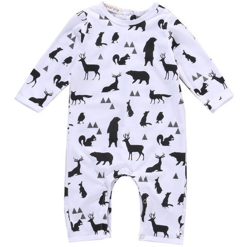 Baby Rompers Long Sleeve Baby Girl Clothing Deer Jumpsuits Spring Autumn-Beautify Sweden