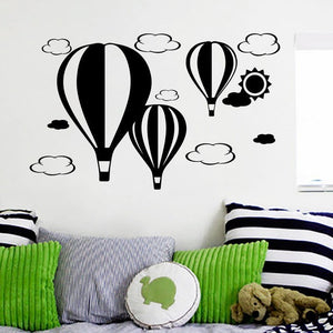 Decorative Vinyl Wall Stickers Air Beautiful Clouds And Ballons With Sun-Beautify Sweden