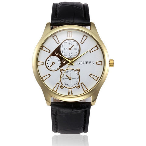 Fashoin Men's Alligator Faux Leather Business Watch-Beautify Sweden