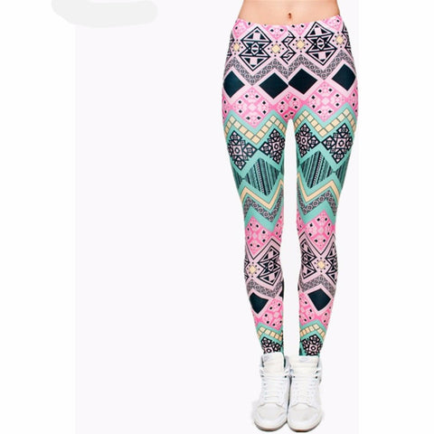 High quality 6 available patterns Aztec Printed leggings Punk Slim fit-Beautify Sweden