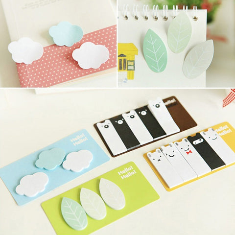 Kawaii Cute Clouds Leaf Animal Forest Mini Memo Pad Stationery Sticker Post It Notes Paper-Beautify Sweden